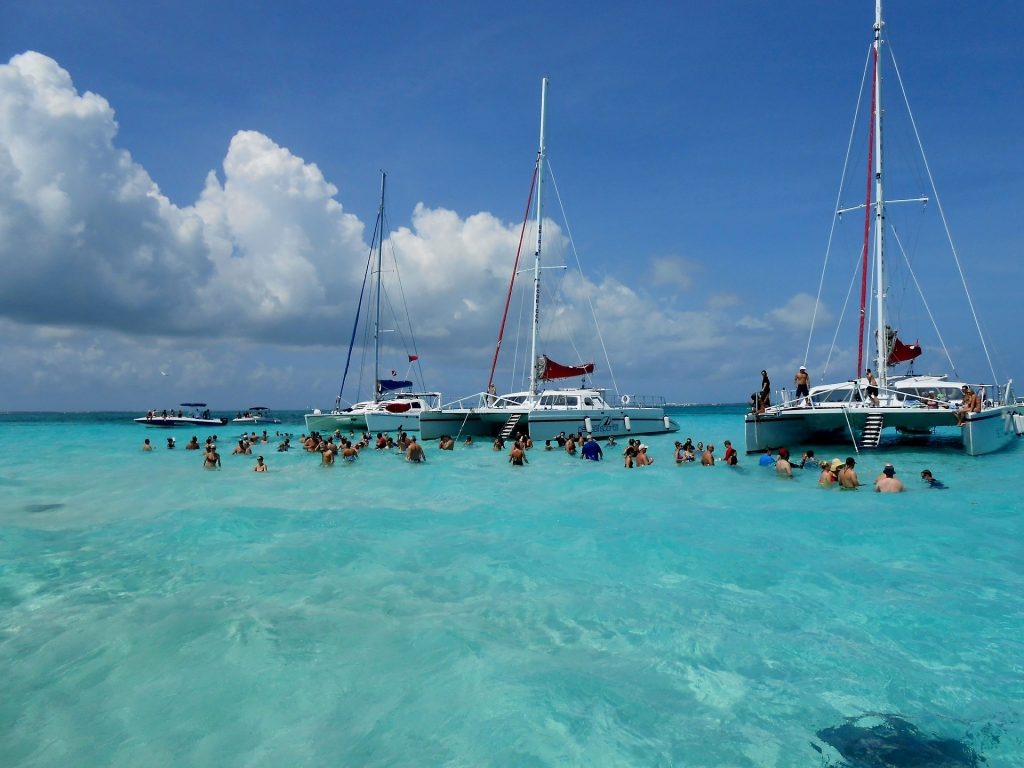 Stingray City near Grand Cayman Island