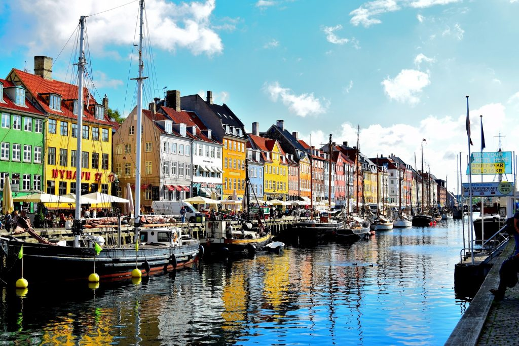 Waterfront promenade in Copenhagen, Denmark