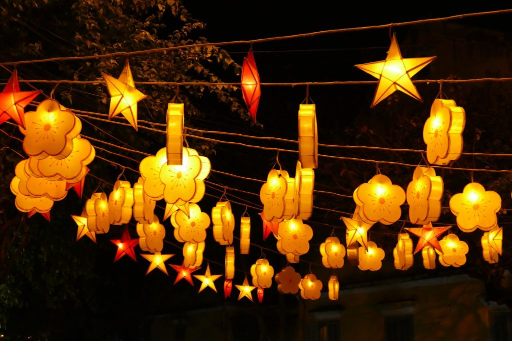 Paper lanterns adorn Saigon during Lunar New Year